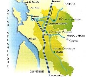 Carte de la Saintonge