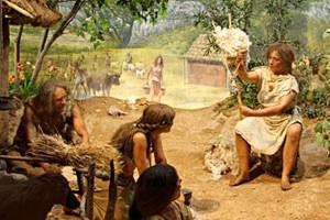 Scène de vie quotidienne au Néolithique